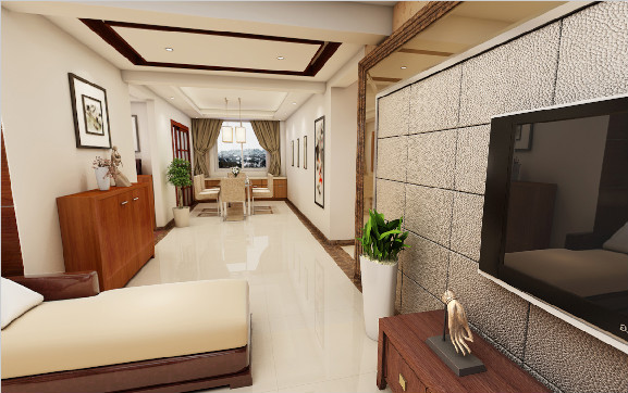 柳州中宅装饰户型图3D16